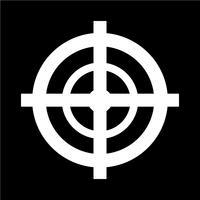 Ilustração em vetor ícone alvo