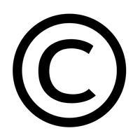 ícone de símbolo de direitos autorais ilustração vetorial