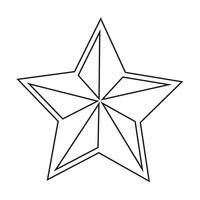 ícone de estrela ilustração vetorial vetor