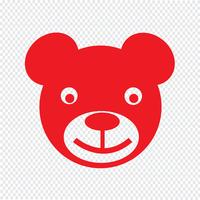 urso ícone ilustração vetorial vetor