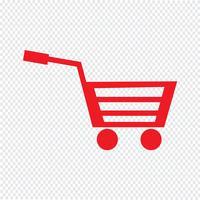 Ilustração em vetor ícone carrinho compras