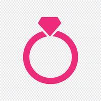 Ilustração em vetor ícone de anel