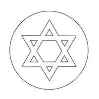 Ícone Star David vetor