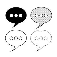 Bolhas do discurso ícone vector