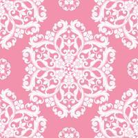 Padrão sem emenda do damasco. Textura rosa