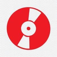 Ilustração em vetor ícone retrô vinil registro