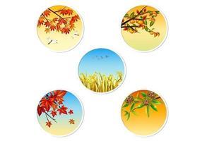 Pacote De Vetores De Emblema De Outono