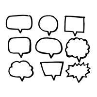 Ícone de mão desenhada discurso bolha vetor