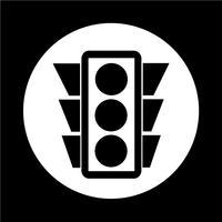 Ícone de semáforo vetor