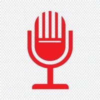 Ilustração em vetor ícone microfone