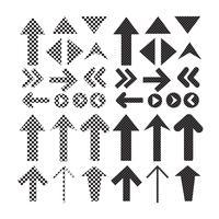 Cadastre-se o ícone de seta preta vetor
