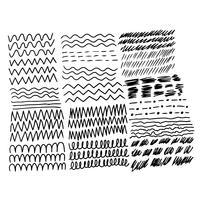 Mão desenhar linha design vetor