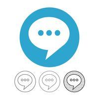 ícone de vetor de bate-papo de bolha de discurso