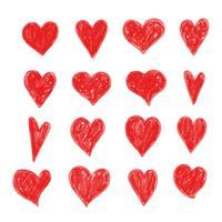 mão desenhar ícone de coração vetor