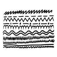 linha de mão desenhada vetor