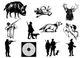 Pacote de vetores de caça