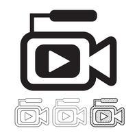 ícone da câmera de vídeo vetor
