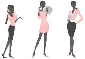 Pacote de vetores de mulher de negócios