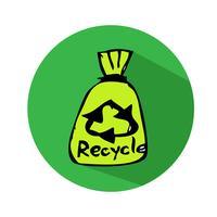 Recicle o ícone de sinal vetor