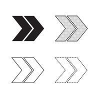 Vetorial, seta, ícone, ilustração vetor