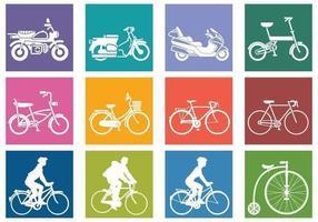 Vários vetores bicicleta pacote