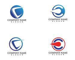 C logotipo e modelo de vetor de símbolos