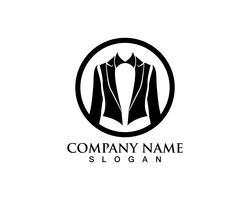 Logotipo de homem de smoking e modelo de ícones pretos de símbolos vetor