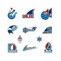 Pacote de vetores de logotipo de vela