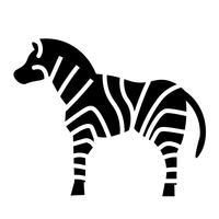 Vetor de ícone de zebra