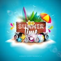 Tipografia de férias de horário de verão