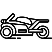 Vetor de ícone de motocicleta