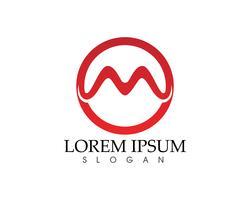 Ícones de vetor letra M tais ícones de modelo de logotipos
