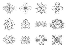 pacote de vetores de ornamento doodle