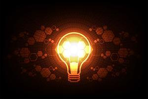 Vector design de lâmpada de tecnologia.