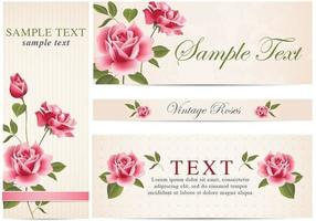 Pacote de vetores de bandeira rosa vintage