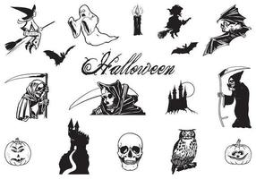 Hand Drawn Halloween Vector Pack