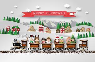 Miúdos bonitos de Natal vetor
