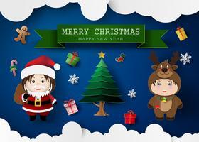 Miúdos bonitos de Natal