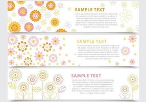 Banner Floral abstrato Vector Pack