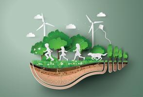 Conceito de ecologia e meio ambiente vetor