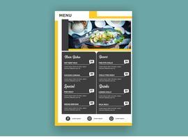 Modelo de menu resturant moderno criativo colorido vetor