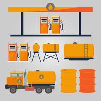 Óleo de posto de gasolina industrial vetor