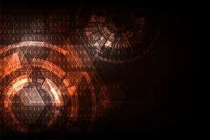 Conceito abstrato da tecnologia do fundo do vetor. vetor