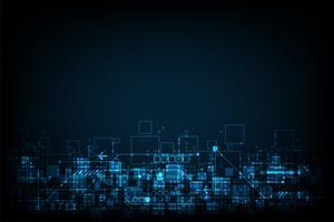 Design digital de tecnologia vector.