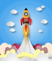 Lançamento do foguete espacial.