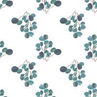 Fundo moderno de Brightl com folhas da selva. Padrão exótico com folhas de palmeira. Ilustração vetorial