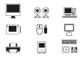 Pacote de vetores de tecnologia e computador