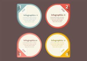 Pacote de vetores ponteiro de infográfico numerado