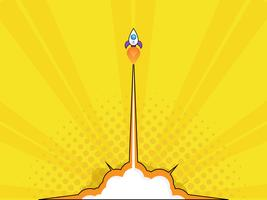 lançamento de foguete arranque conceito vetor