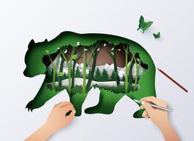 Animal da vida selvagem mundial vetor